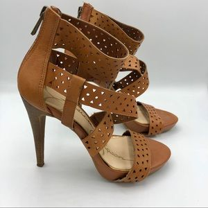 Jessica Simpson | Brown Ankle Strap High Heels